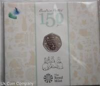 2016 Royal Mint  Beatrix Potter Brilliant Uncirculated 50p Coin Pack