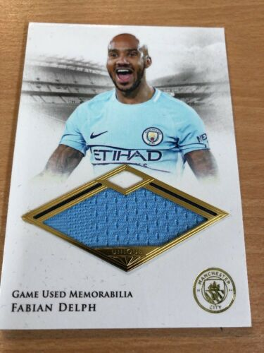 2018 Futera Unique Presentation Man City Fabian Delph 0129 Memorabilia Card