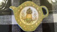 Colonial Williamsburg Teabag Holder Hospitality Pineapple Caddy Tea Pot