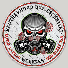 Brotherhood Essential Usa Workers God Bless The Usa Sticker Decal