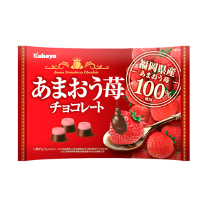 Kabaya-Amaou-Strawberry-Chocolate-155g-Japan