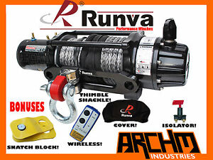 Details about RUNVA 11XP PREMIUM IP67 WATERPROOF W/DYNEEMA ROPE 12V  RECOVERY WINCH + BONUSES