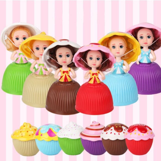 Mini Cartoon Transformed Doll Cupcake Princess Play House Deformable Pastry BN