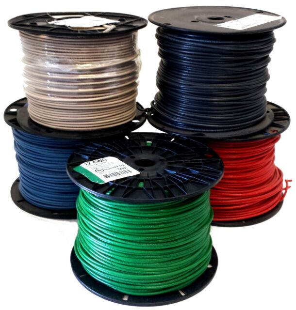 "14 AWG Gauge Solid THHN Wire Red 50 ft 0.102/"" 600 Volts Building Wire"