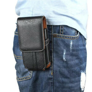 PU-Leather-Holster-Belt-Clip-Pouch-Vertical-Pocket-Buckle-Case-For-Cell-Phone