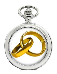 Marriage-Interlocking-Rings-Pocket-Watch
