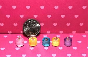 Miniature Votive Candles Dollhouse Miniature 1:12 Scale Kitchen