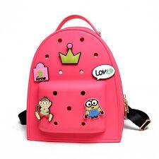 Women Girls Kids Backpack Handbag Beach School Bags Lunch Box for Charms Jibbitz
