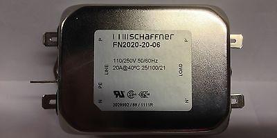 "Schaffner Power Line Filter FN9222R-10-06 20 Amps 250 VAC NOS 1//4/"" Quick Disco"