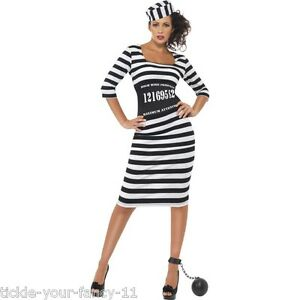 Image is loading Women-039-s-Sexy-Classy-Convict-Prisoner-Fancy-  sc 1 st  eBay & Womenu0027s Sexy Classy Convict Prisoner Fancy Dress Hen Party Costume ...