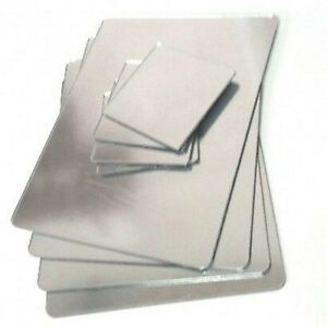 Silver Mirror Acrylic Rectangle Shaped Placemats