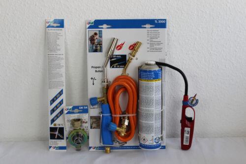 CFH Set professionnel brasure Turbo De Luxe 2000 52448+52114+52310 brûleur à gaz lötgerät