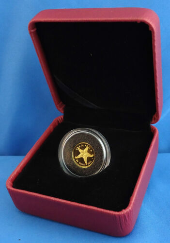 """Starfish 1//25 troy oz Pure Gold Coin 2013 1st in New /""""Sea Creatures/"""" Series"""