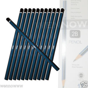 12 Pcs Premium Quality Pencil 2B For Drawing, and Sketching