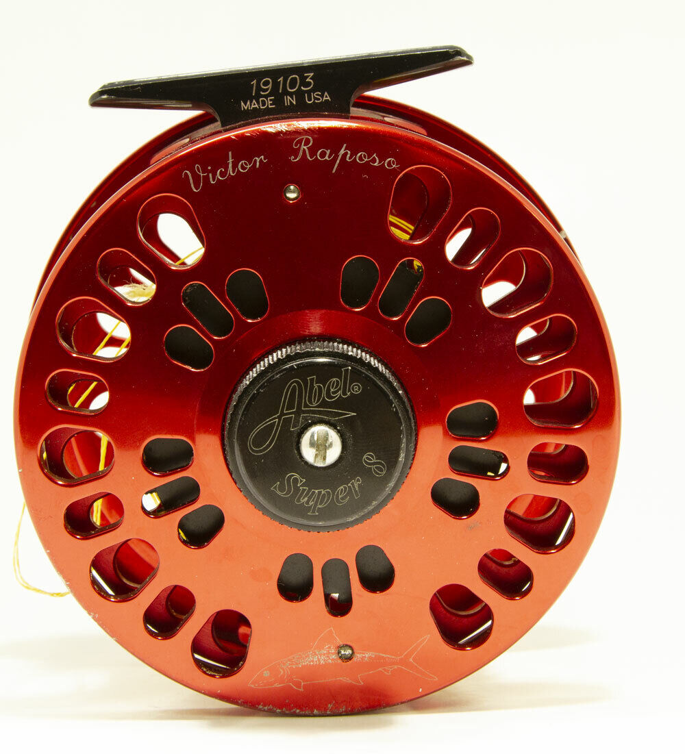 Abel Super 8 Metallic Red Fly  Fishing Reel  fast shipping