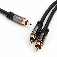 KabelDirekt 20ft 1x RCA Male to 2x RCA Male Subwoofer Y RCA Digital Audio Cable