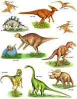 Tatouage Designs Dinosaurs 3 Sheets Dry Rub Transfer Mural