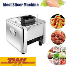 110v Stainless Commercial Electric Meat Slicer Cutting Machine Cutter 150kghour