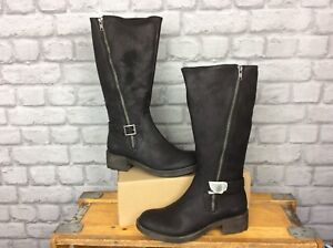ROCKET-DOG-LADIES-UK-5-EU-38-BLACK-TANKER-GRAHAM-LONG-BIKER-BOOTS-RRP-79-99