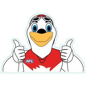 Sydney Swans Mascot Car Decal