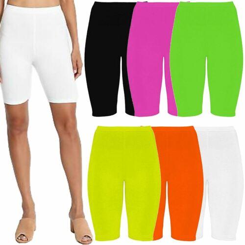 Ladies Neon Plain Sports Wear Skinny Cycling Shorts Ladies Gym Wear Short Pants
