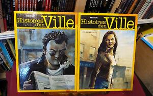 Histoires-d-039-en-Ville-Rochecardon-complete-tomes-1-a-3-EO-TBE-Berlion-Glenat
