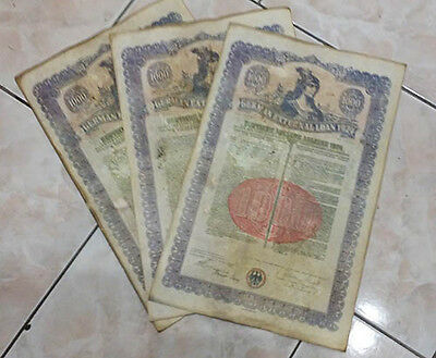 German 1924 External Loan $1000 Dollars uncancelled