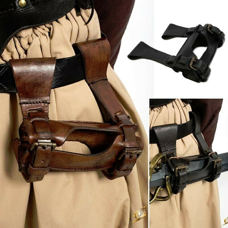 Leather Buckled Rogue Sword Holder for Stage, Costume, Re-enactment & LARP