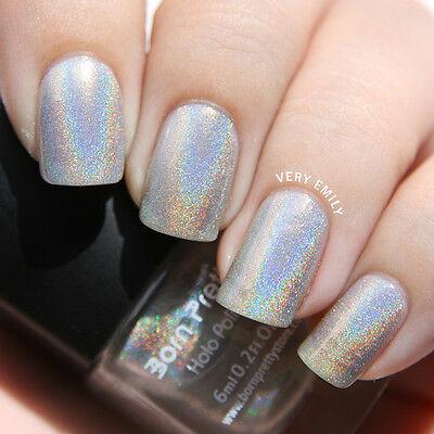 6ml Holographic Holo Glitter Nail Polish Varnish Hologram Effect Born Pretty 1#
