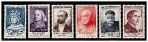 s23346-FRANCE-1954-MNH-Nuovi-Famous-persons-6v-Y-amp-T-989-94