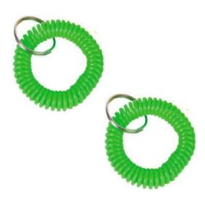 Plastic Wrist Coil with 25mm Split Ring 10 Pieces