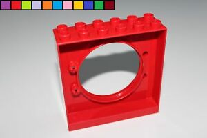 LEGO Duplo 1x Fenster Tür f Rahmen rot 4247