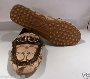 7cdad7c04f0 Image is loading NEW-Coach-Fortunata-Driving-Loafer-Signature-Jacquard-Shoes -