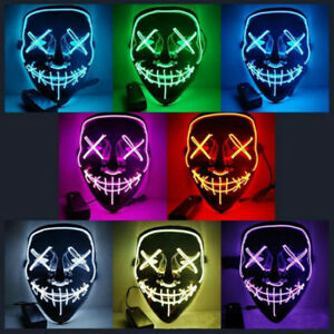 Light Up LED Stitches Mask Costume Halloween Clubbing Masks Rave Cosplay Party!!