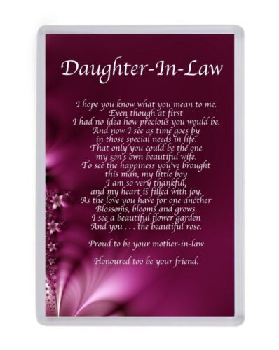 Personalised Daughter In Law Fridge Magnet Birthday Present Christmas Gift