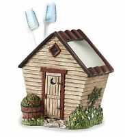 Linda Spivey Outhouse Toothbrush Holder By Park Designs, Hand Painted, Country