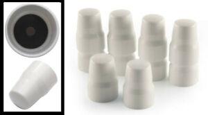 10 x Radiator Valve Cap Universal Replacement Central Cover Valve White Plumb