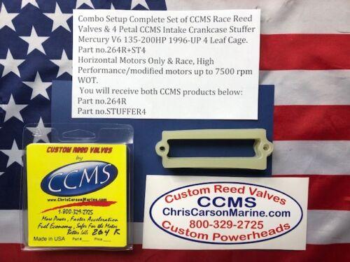 CCMS Mercury Race Reed /& Stuffer Kit V6 135-200HP for 4 Leaf Cages PN.264R+ST4