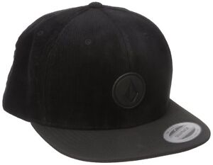 Volcom-classic-Samt-Stoff-Ink-Black-Trucker-Baseball-Cap-One-Size-NEU