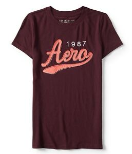 Aeropostale-Women-039-s-Tee-Shirt-Embroidered-Level-Two-Aero-1987