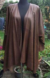 Batwing Leather Coat 1980's Vintage Waterfall Jean Muir Lagenlook 6vqnZtw