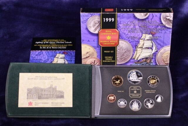 1999 Canada Proof Set 225th Anniversary of the Voyage of Juan Perez