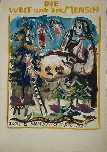 Kurt-Bunge-Die-Welt-und-der-Mensch-Weihnachtsszene-Aquarell-1936