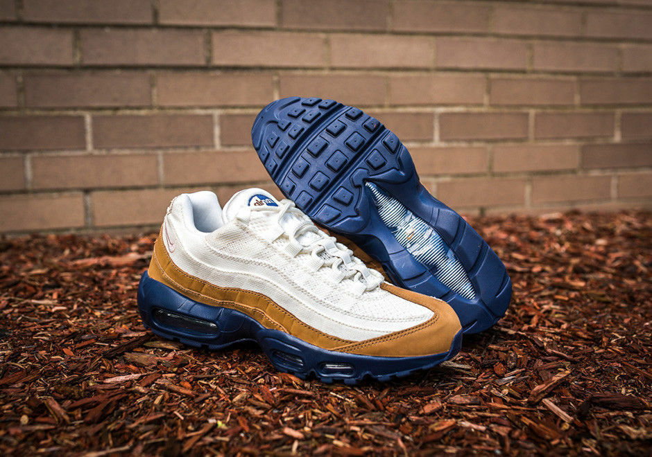 Nike Air Max 95 Premium Sneakers New, Ale Brown Khaki Navy 538416-200 sku AA