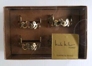 Nicole Miller Home Decor Blessed Set of 4 Metal Napkin ...