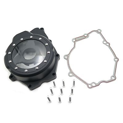 Black Left Engine Stator Cover See Through For Compatible with Yamaha 2006-2014 YZF-R6 w//gasket NBX