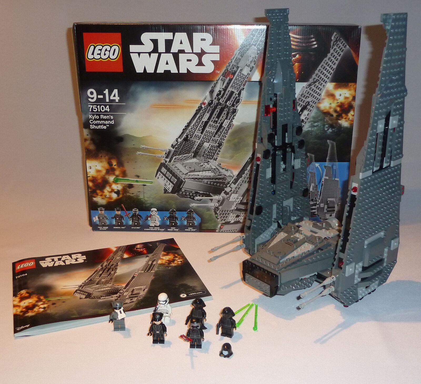 LEGO Star Wars 75104 Kylo Ren's Ren's Ren's Command Shuttle – TOP inkl. OVP und OBA 0689e2