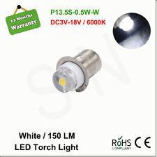 P13.5S 0.5W Led Flashlight Replacement bulb 3V 4V 6V 12V 18V Lantern Work Light