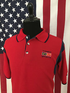 2639105f vtg 90s Tommy Hilfiger Sport Bootleg Polo Shirt men's LARGE made in ...