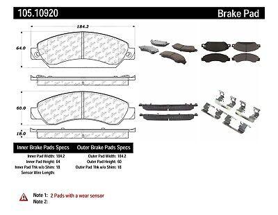 D770 FITS VEHICLES ON CHART BRAND NEW CTEK REAR BRAKE PADS 102.07700